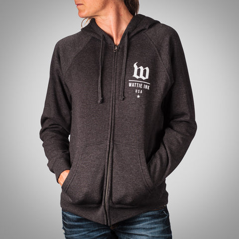 "The ""Classic"" Women's Carbon Special Blend Zip-Front Hoodie"