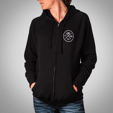 "The ""Hipster"" Women's Black Special Blend Zip-Front Hoodie"