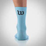 Wattie Ink. Carolina Blue Socks
