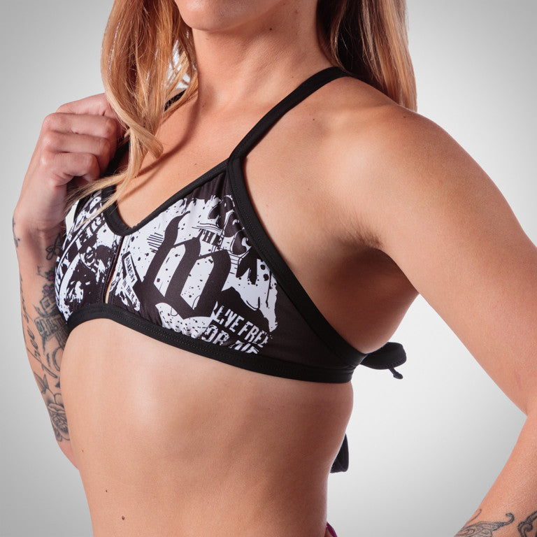 Women's American Punk Triangle Bikini Top