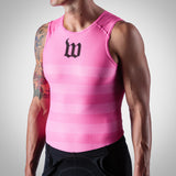 Men's Summer Base Layer - Neon Pink Stripes