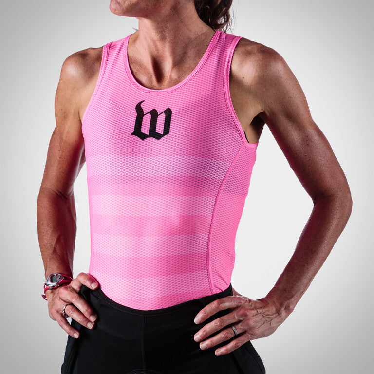 Women's Summer Base Layer - Neon Pink Stripes