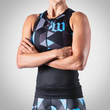 Women's Spectrum Collection Ocean Blue Aero Triathlon Top