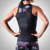 Women's Spectrum Collection Maroon Aero Triathlon Top