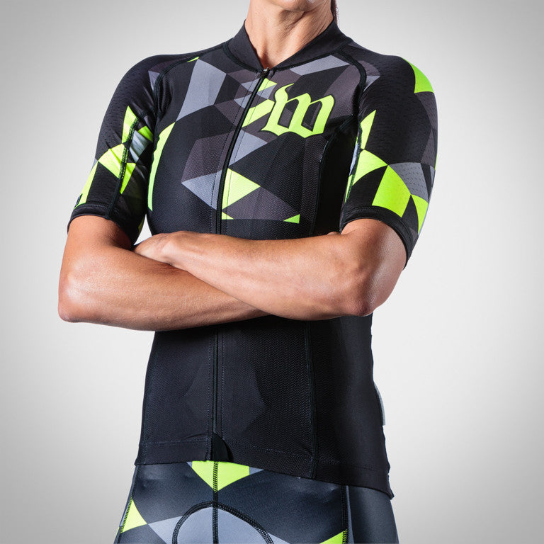 WOMEN'S SPECTRUM COLLECTION NEON YELLOW AERO TRIATHLON JERSEY