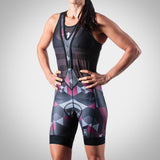 WOMEN'S SPECTRUM COLLECTION MAROON AERO TRIATHLON BIB SHORT