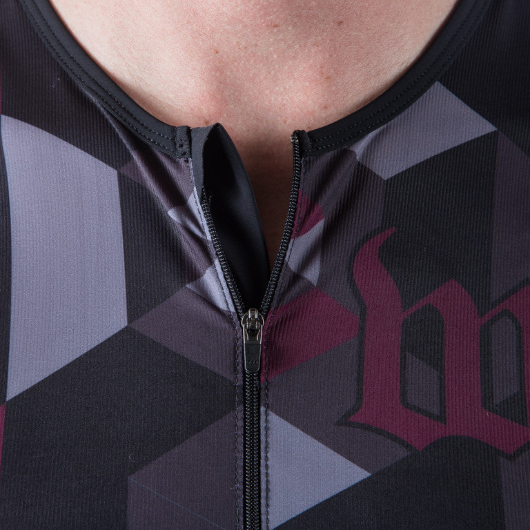 Men's Spectrum Collection Maroon Aero Triathlon Top