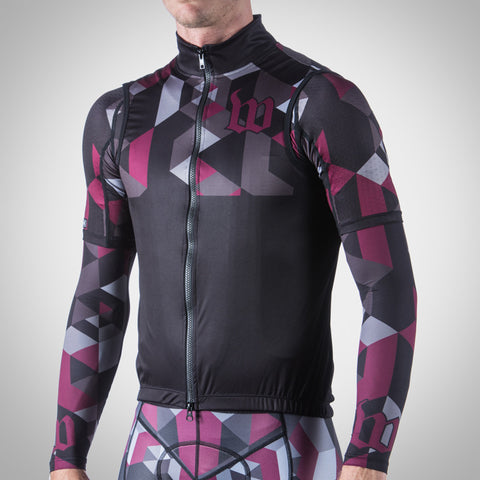 SPECTRUM COLLECTION MAROON TRIATHLON AERO WIND VEST
