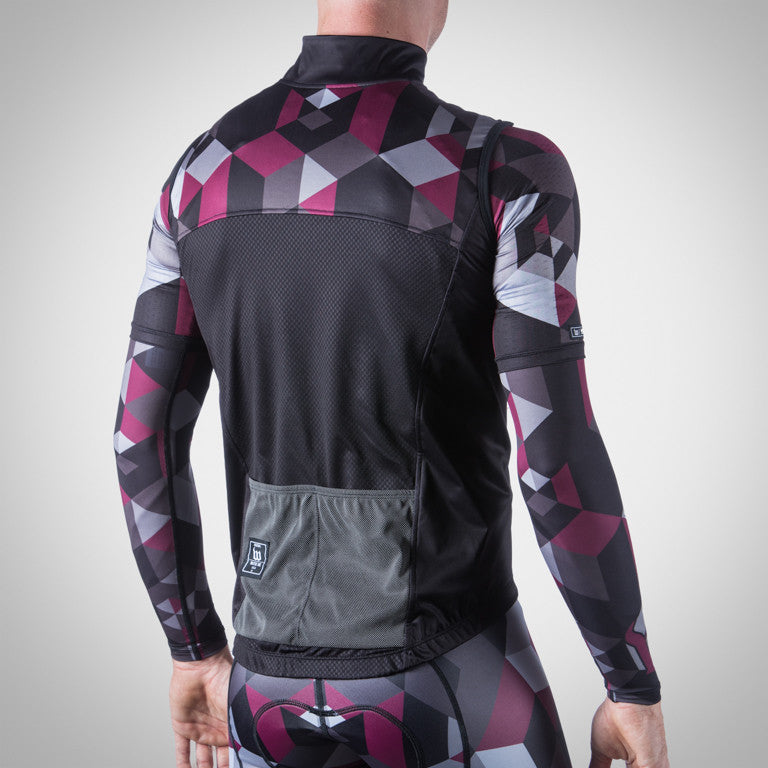 UNI-SEX SPECTRUM COLLECTION MAROON AERO WIND VEST