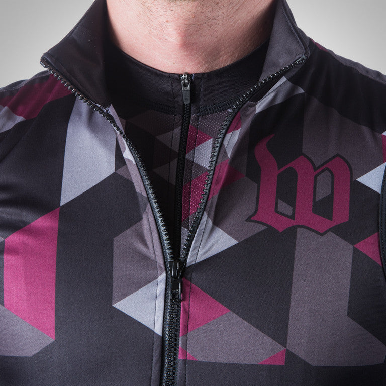 UNI-SEX SPECTRUM MAROON WIND VEST