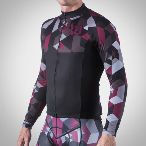 MEN'S SPECTRUM COLLECTION MAROON THERMAL LONG SLEEVE JERSEY