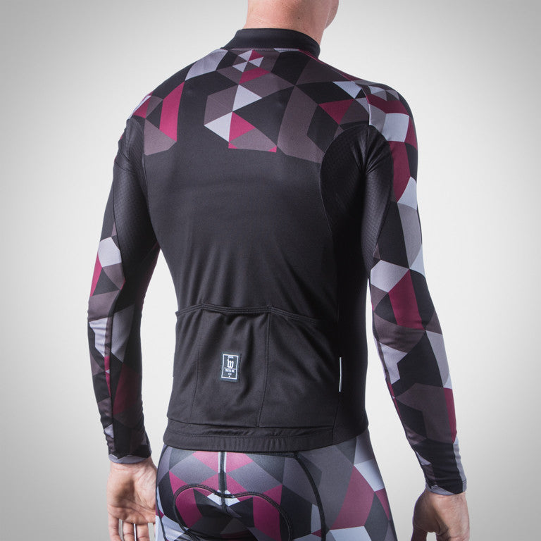 MEN'S SPECTRUM COLLECTION MAROON THERMAL LONG SLEEVE TRIATHLON JERSEY