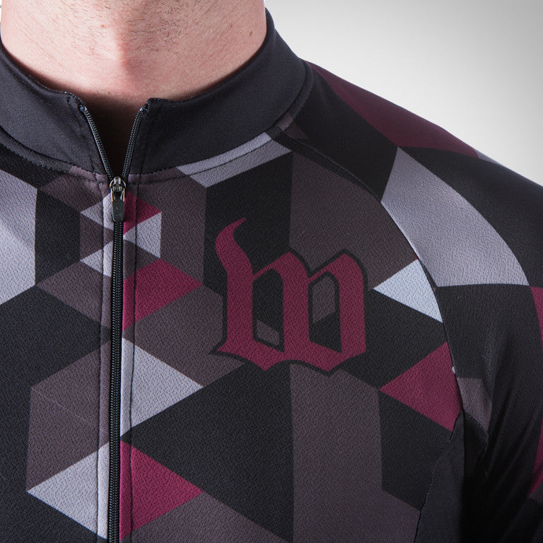 MEN'S SPECTRUM MAROON THERMAL LONG SLEEVE JERSEY