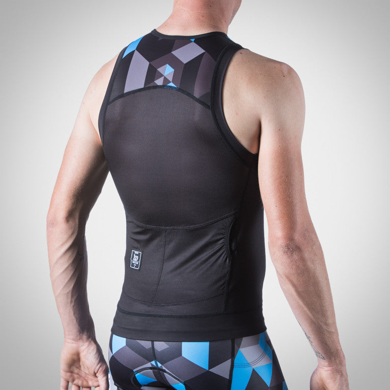 Men's Spectrum Ocean Blue Tri Top