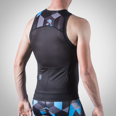 Men's Spectrum Ocean Blue Tri Top-hover