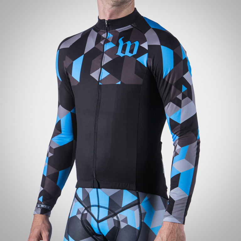 MEN'S SPECTRUM COLLECTION OCEAN BLUE THERMAL LONG SLEEVE JERSEY