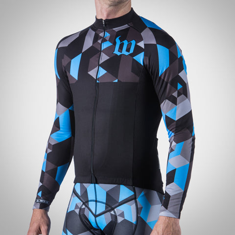 Men's Spectrum Collection Ocean Blue Thermal Aero Long Sleeve Jersey