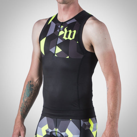 Men's Spectrum Neon Yellow Tri Top