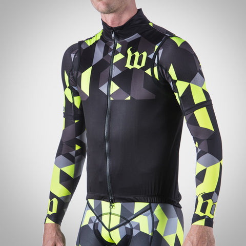 SPECTRUM COLLECTION NEON YELLOW TRIATHLON AERO WIND VEST