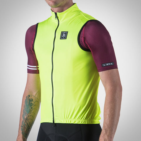 RETRO FLO YELLOW CONTENDER TRIATHLON WIND VEST