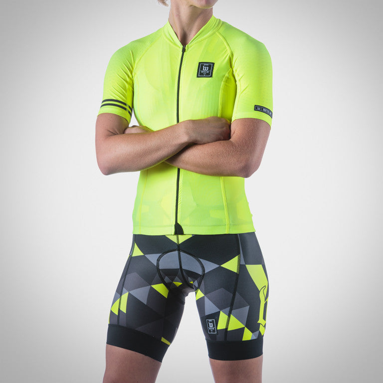 WOMEN'S SPECTRUM COLLECTION NEON YELLOW AERO BIB SHORT