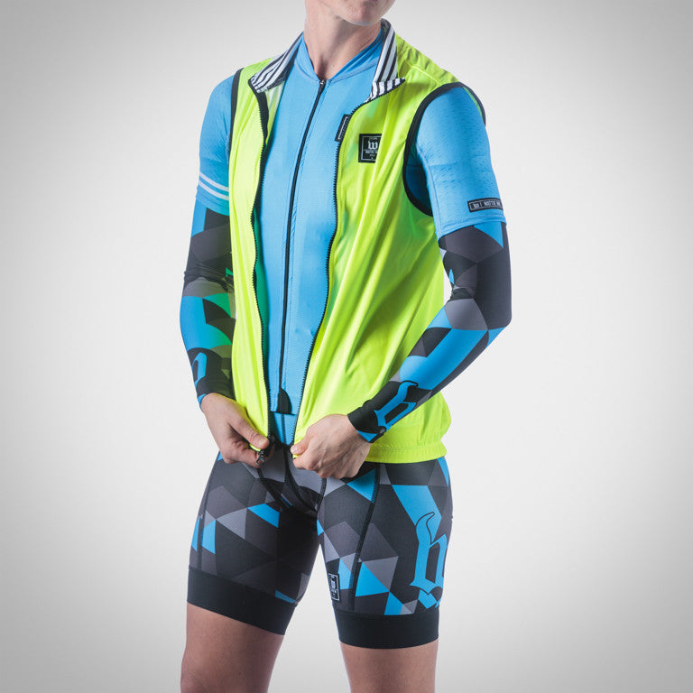 WOMEN'S RETRO COLLECTION NEON BLUE AERO TRIATHLON JERSEY