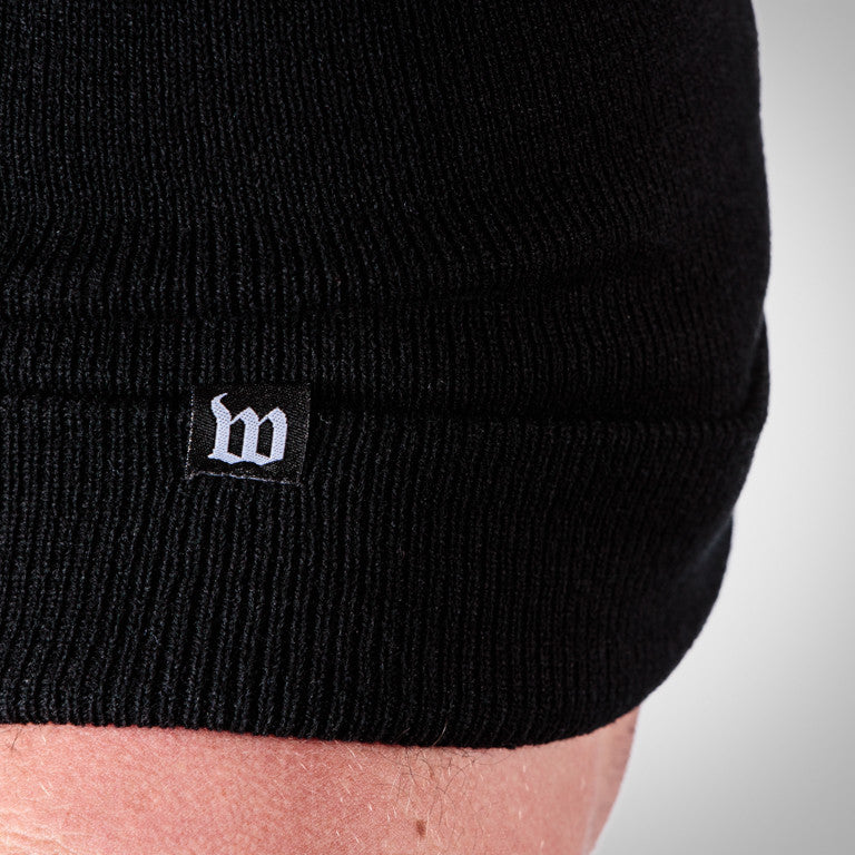 Black TTR (Time To Rock) Cuffed Running Beanie
