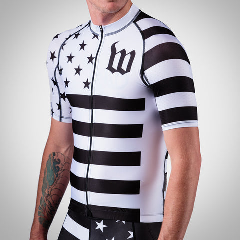 Men's White Patriot Collection Aero Jersey