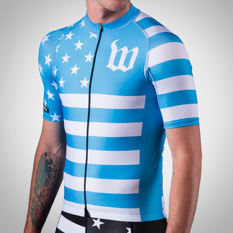 Men's Blue Patriot Collection Aero Jersey