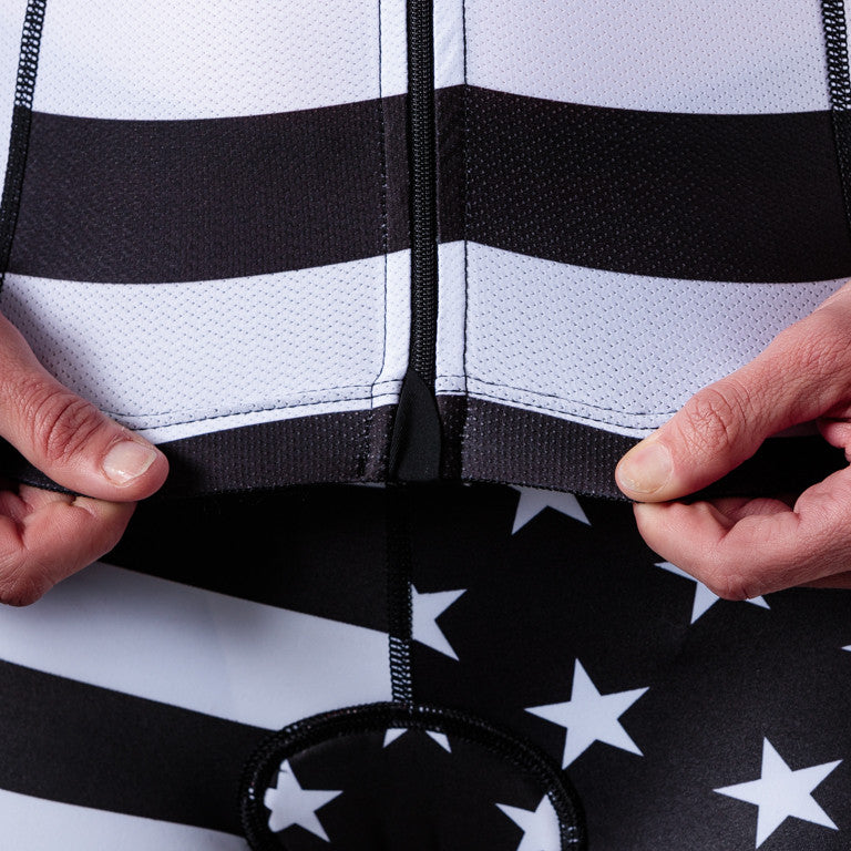 Women's White Patriot Cycling Jersey
