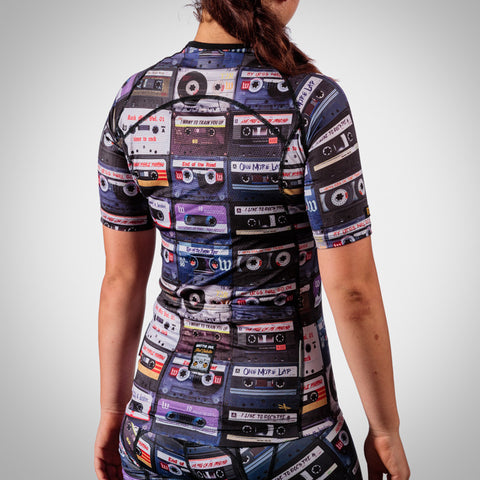 Women's MixTape Aero Sleeved Triathlon Jersey