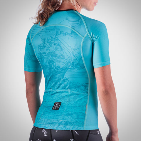 Women's Shipwreck Hyper Blue Aero Sleeved Jersey