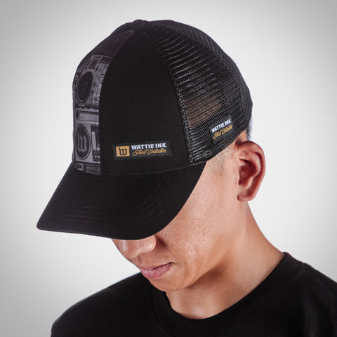 Boombox Running Trucker Hat
