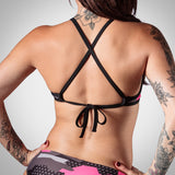 Women's Camo Awareness Triangle Bikini Top