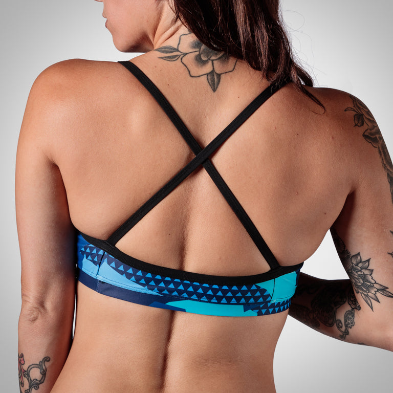 Women's Urban Assault Triple Threat Sport Top - Hyper Blue