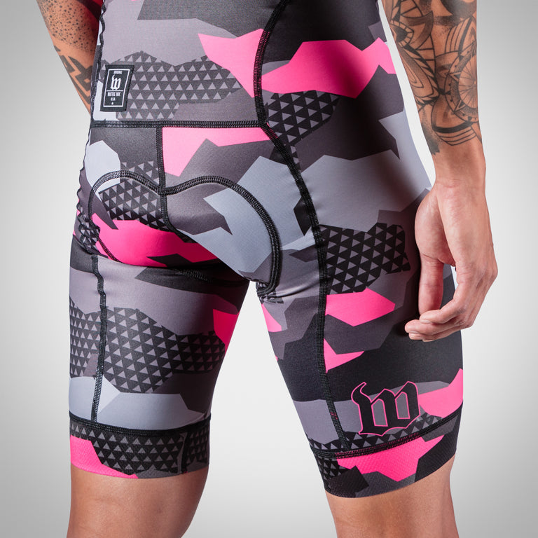 Men's Camo Awareness Bib Short