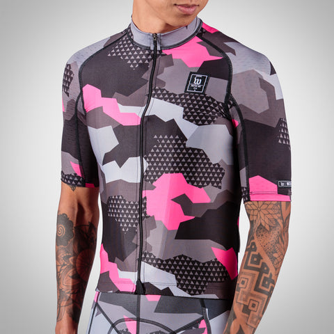Men's Camo Awareness Aero Cycling Jersey