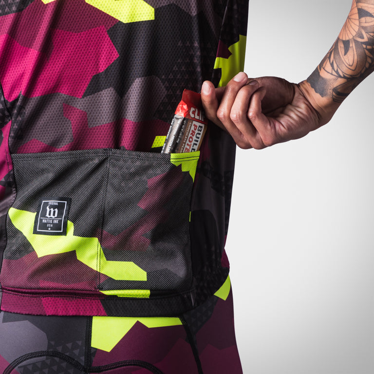 Men's Urban Assault Wind Vest - Maroon/Flo Yellow