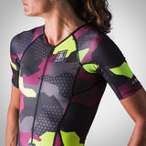 Women's Urban Assault Speedsuit - Maroon/Flo Yellow