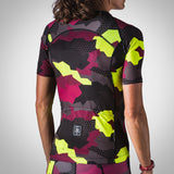 Women's Urban Assault Aero Jersey -  Maroon/Flo Yellow