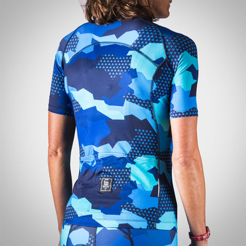 Women's Urban Assault Aero Jersey - Hyper Blue