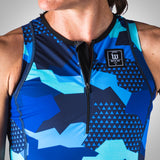 Women's Urban Assault Aero Triathlon Top - Hyper Blue