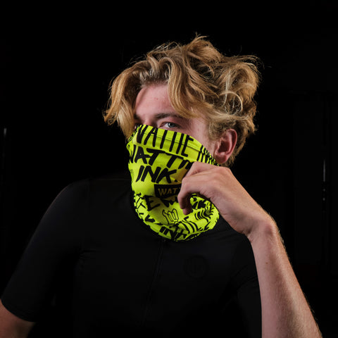 Street Punk Neck Gaiter - Yellow-hover