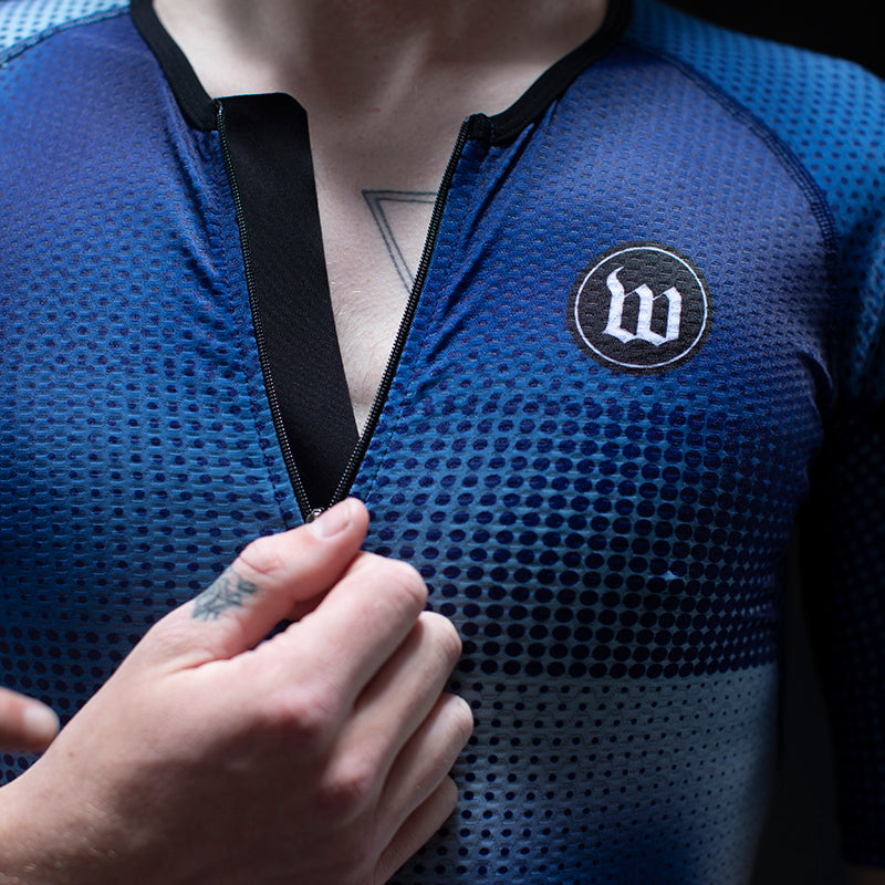 Men's Pixel Blue Champion Tri Aero Jersey