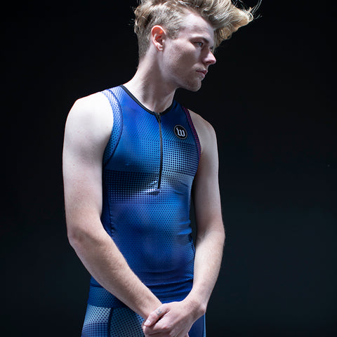 Men's Pixel Blue Contender 2.0 Tri Top-hover