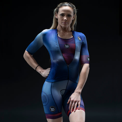 Women's Pixel Blue Contender Base Layer-hover