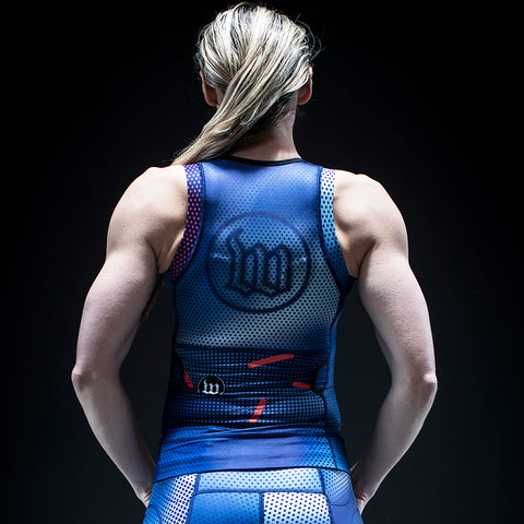 Women's Pixel Blue Contender 2.0 Tri Top-hover