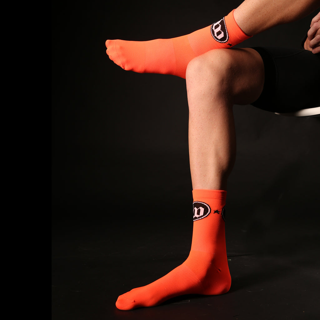 The W Neon Orange Socks