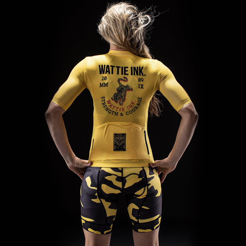 Women's Contender 2.0 Tiger SS Jersey - Yellow