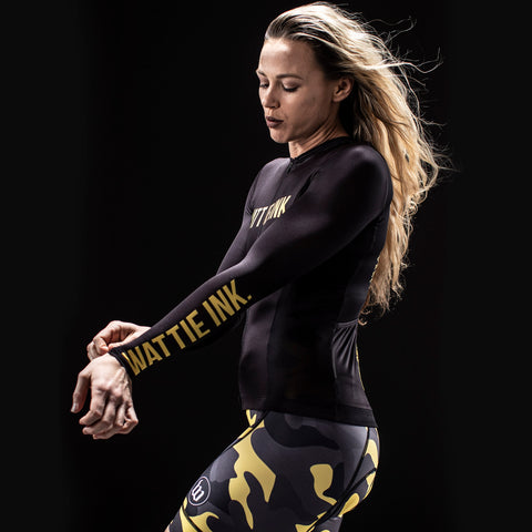Women's Contender 2.0 Tiger UV Protect LS Jersey - Black